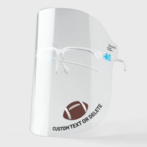 Football, Custom Text Personalized Sports Face Shield