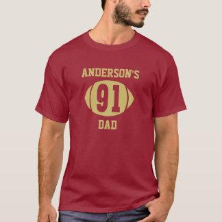 Football Dad 91 Gold T-Shirt
