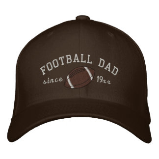 Football dad - Add your own year! Embroidered Baseball Hat