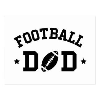 Football dad black postcard