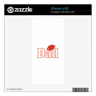 Football Dad Decal For iPhone 4