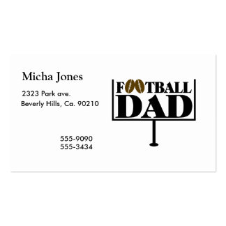 Football Dad Goal Post Double-Sided Standard Business Cards (Pack Of 100)