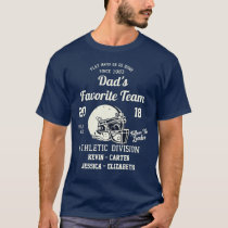 Football Dad Kids Sports Team Fathers Day T-Shirt