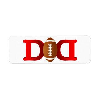 Football Dad Label