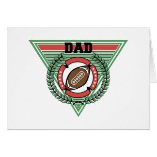 Football Dad Laurel Logo Card