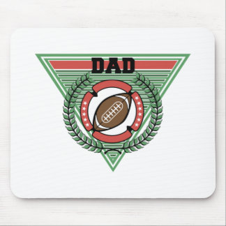 Football Dad Laurel Logo Mouse Pad