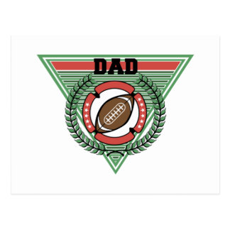 Football Dad Laurel Logo Postcard