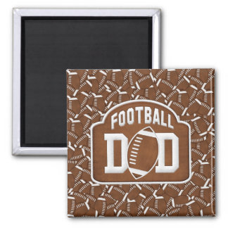Football Dad 2 Inch Square Magnet