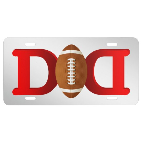 Football Dad Sport Sports #2 License Plate