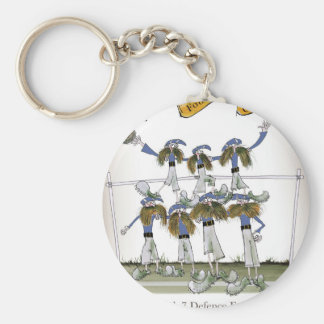 football defenders blue kit keychain