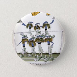 football defenders blue kit pinback button