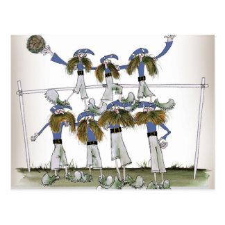 football defenders blue kit postcard