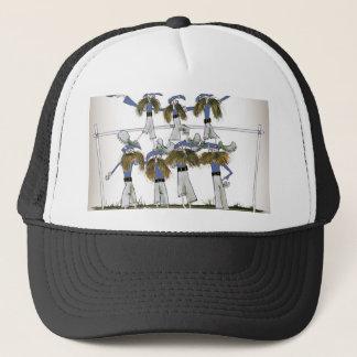 football defenders blue kit trucker hat
