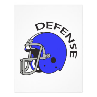 FOOTBALL DEFENSE LETTERHEAD DESIGN