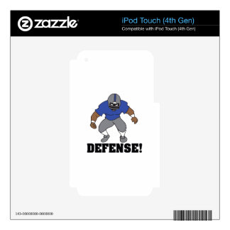 FOOTBALL DEFENSE iPod TOUCH 4G SKINS