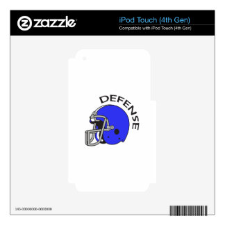 FOOTBALL DEFENSE iPod TOUCH 4G DECAL