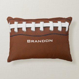Football Design Accent Pillow