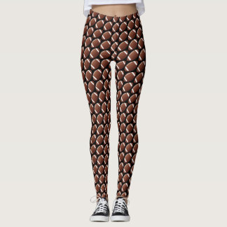 Football Design All-Over Print Leggings