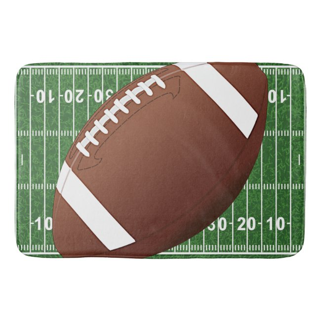 Football Design Bath Mat