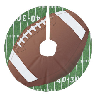 Football Design Christmas Tree Skirt