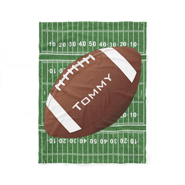 Football Design Fleece Blanket