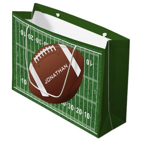 Football Design Gift Bag