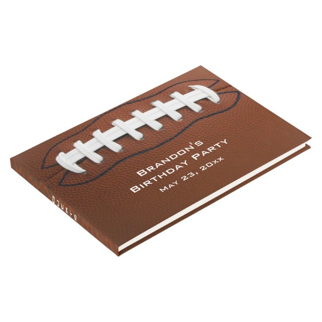 Football Design Guest Book