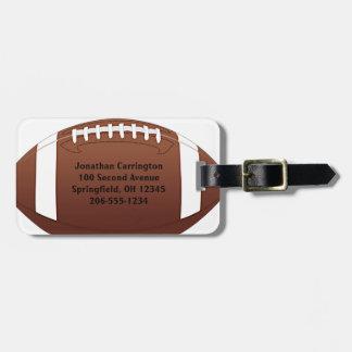 Football Design Luggage Tags
