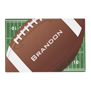 Football Design Placemat at Zazzle