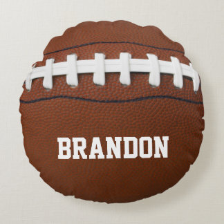 Football Design Round Pillow