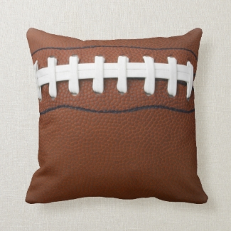 Football Design Throw Pillow