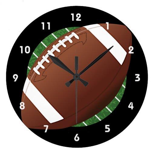 Football Design Wall Clock : Football design wall clock zazzle