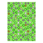 Football Design Wall Poster with Green Shirts