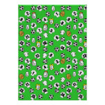 Football Design Wall Poster with White Shirts