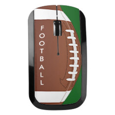 Football Design Wireless Mouse at Zazzle