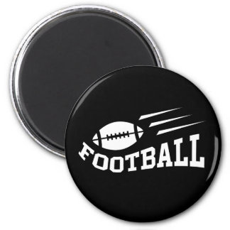 Football design with bouncing ball white on black refrigerator magnets