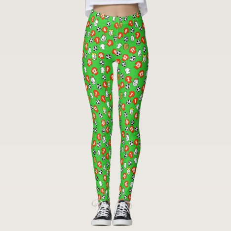 Football Design with Shirts in Red Leggings