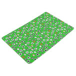 Football Design with White Shirts Floor Mat