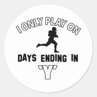 football Designs Classic Round Sticker