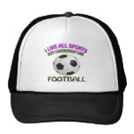 Football designs hat