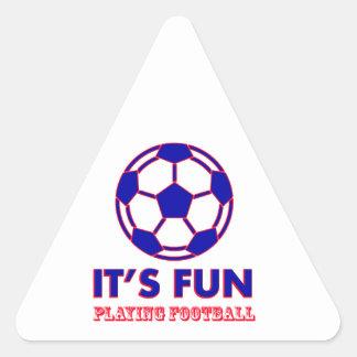 football Designs Triangle Sticker