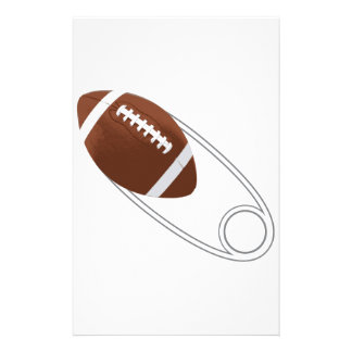 Football Diaper Pin Customized Stationery