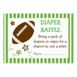 Football Diaper Raffle Tickets Large Business Cards (Pack Of 100)
