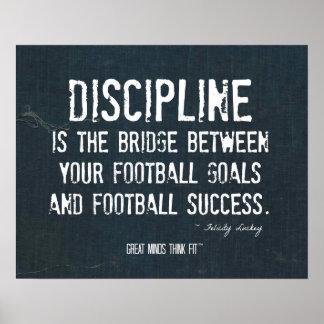 Football Discipline Poster in Denim