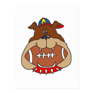football dog postcard