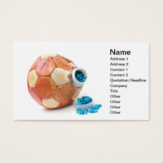 Football doping business card
