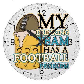 Football Drinking Team Large Clock