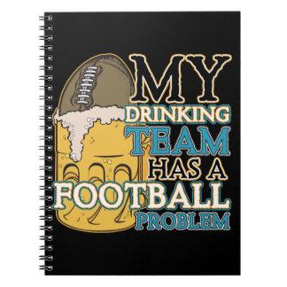 Football Drinking Team Spiral Notebook