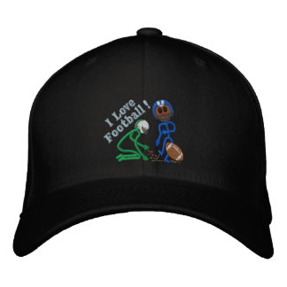 Football Embroidered Cap - Colors Can Be Changed