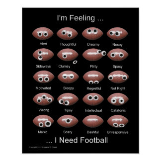 Football Emotion Poster Posters
